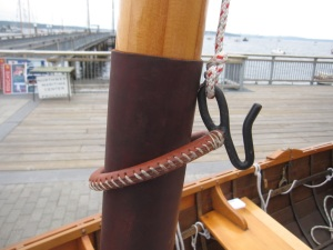 The real McCoy, or should I say the real McMullen? (made by James McMullen- this is on Eric Hvalsoe's boat.)