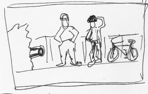 confused bikers
