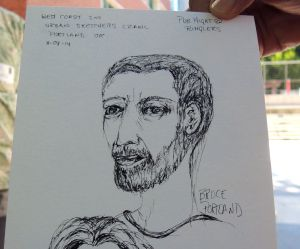 Another's sketcher's portrait of yours  truly.